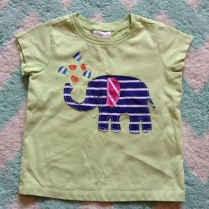HANNA ANDERSSON elephant appliqué t-shirt 120 5 6